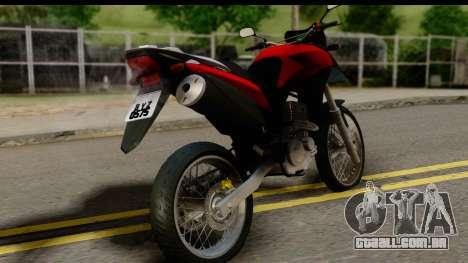 Honda XRE 300 v2.0 para GTA San Andreas esquerda vista