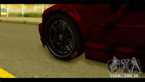 BMW 330 Tuning Red Dragon para GTA San Andreas traseira esquerda vista