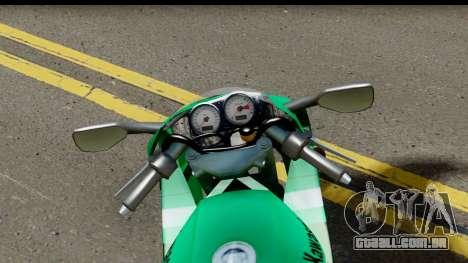 Kawasaki ZX-9R para GTA San Andreas vista traseira