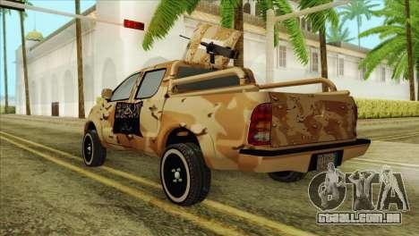 Toyota Hilux Siria Rebels para GTA San Andreas esquerda vista