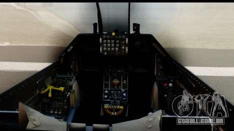 F-16C Polish Air Force Tigers para GTA San Andreas vista traseira