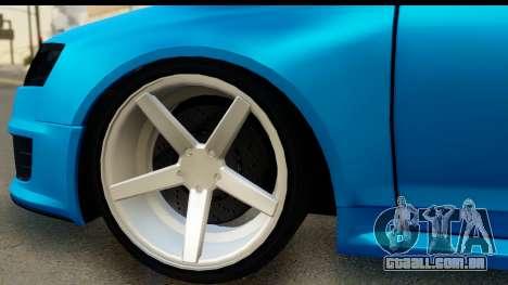 Audi RS6 Vossen para GTA San Andreas vista traseira