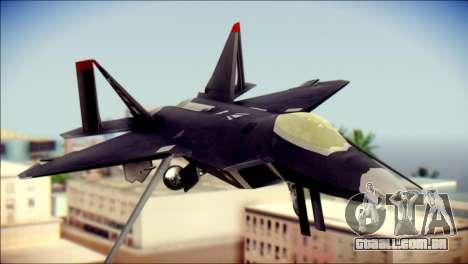 F-22 Raptor Razgriz para GTA San Andreas vista traseira