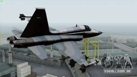 Northrop F-5E Tiger II Wardog Squadron para GTA San Andreas esquerda vista