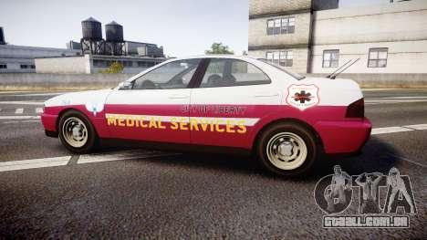 Dinka Chavos Paramedic para GTA 4 esquerda vista