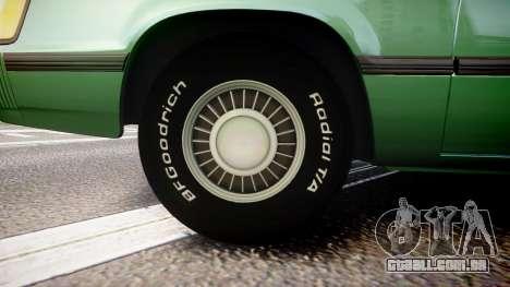 Ford LTD LX 1985 v1.6 para GTA 4 vista de volta