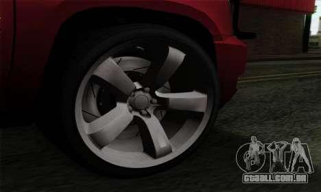 Cadillac Escalade 2013 para GTA San Andreas traseira esquerda vista