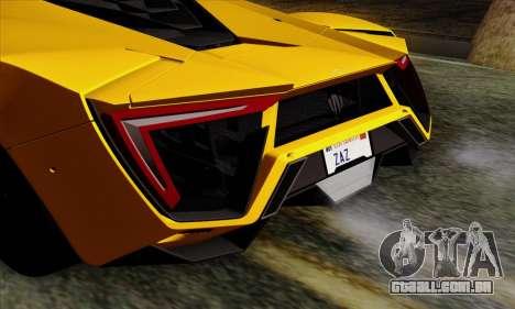 Lykan Hypersport 2014 Livery Pack 2 para GTA San Andreas vista traseira
