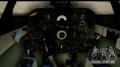 Aermacchi MB-326 ARM para GTA San Andreas traseira esquerda vista