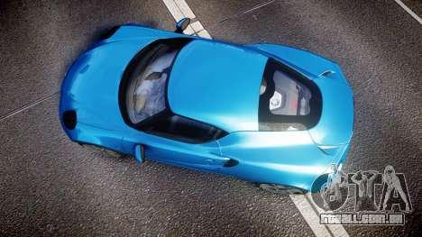 Alfa Romeo 4C 2014 HD Textures para GTA 4 vista direita