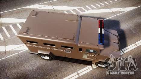 GTA V Brute Police Riot [ELS] skin 1 para GTA 4 vista direita