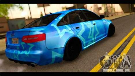 Audi RS6 VIP Star para GTA San Andreas esquerda vista