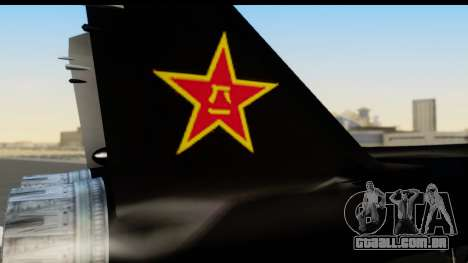 Mikoyan-Gurevich MIG-31 China Air Force para GTA San Andreas vista direita