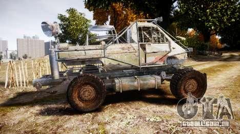 Militar caminhão blindado para GTA 4 esquerda vista