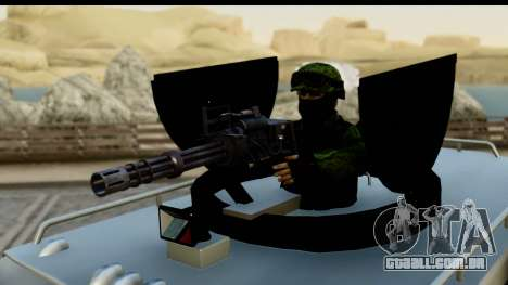Camion Blindado para GTA San Andreas vista direita