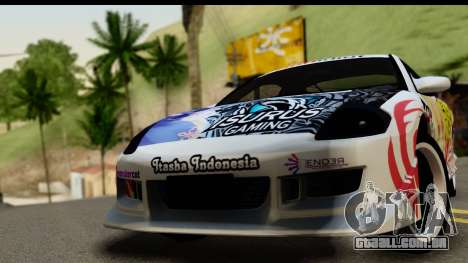Mitsubishi Eclipse 2003 Fate Zero Itasha para GTA San Andreas traseira esquerda vista