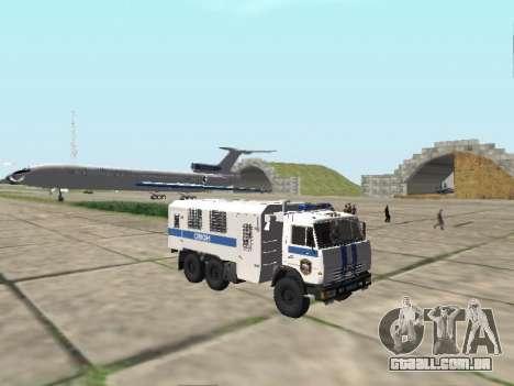 KamAZ-43114 um OMON para GTA San Andreas vista interior