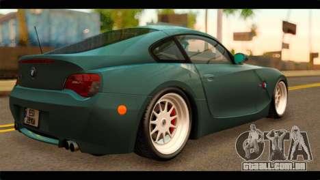 BMW Z4M Coupe para GTA San Andreas esquerda vista
