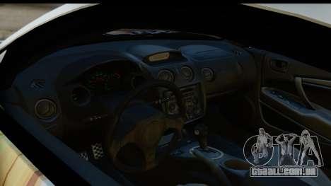 Mitsubishi Eclipse 2003 Fate Zero Itasha para GTA San Andreas vista traseira