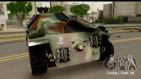 Jagdpanzer 38(t) Hetzer Chwat para GTA San Andreas traseira esquerda vista