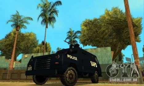 Beta FBI Truck para GTA San Andreas vista traseira