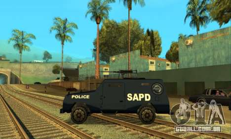 Beta FBI Truck para GTA San Andreas vista direita