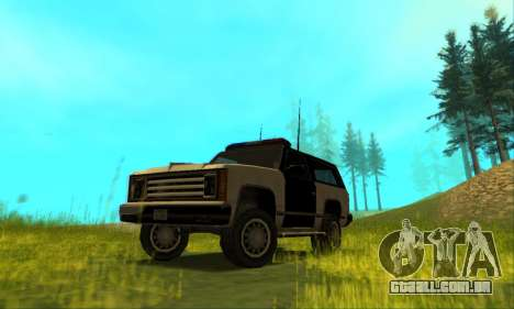 Beta Police Ranger para vista lateral GTA San Andreas