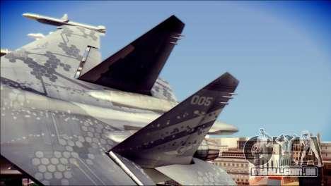 SU-37 Hexagon Madness para GTA San Andreas traseira esquerda vista
