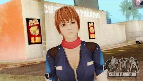 Dead Or Alive 5 LR Kasumi Fighter Force para GTA San Andreas terceira tela