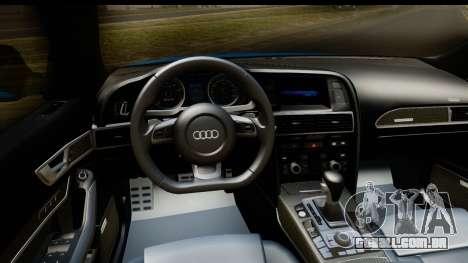 Audi RS6 Vossen para GTA San Andreas vista interior