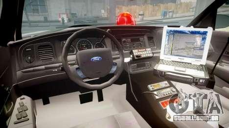Ford Crown Victoria NYPD Unmarked [ELS] Old para GTA 4 vista de volta