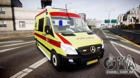 Mercedes-Benz Sprinter 311 cdi Belgian Ambulance para GTA 4