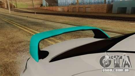 Mitsubishi Lancer Miku Hatsu para GTA San Andreas vista traseira