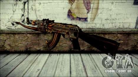 AK-47 Inferno para GTA San Andreas segunda tela