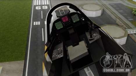 YF-23 Black Widow II Tigermeet para GTA San Andreas traseira esquerda vista