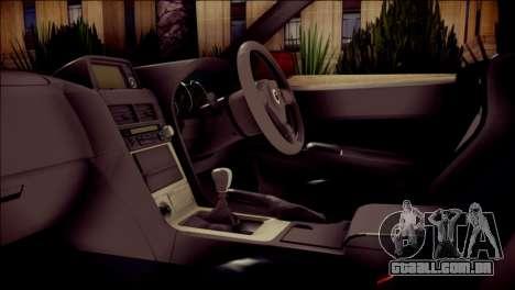 Nissan Skyline GTR V Spec II para GTA San Andreas vista direita