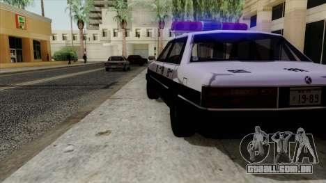 Karin Primo Police para GTA San Andreas vista direita