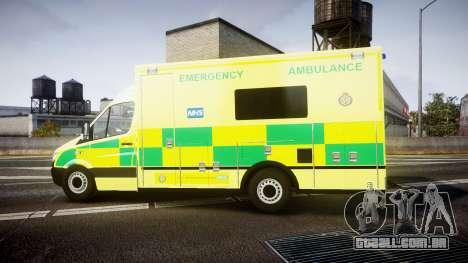 Mercedes-Benz Sprinter Ambulance [ELS] para GTA 4 esquerda vista