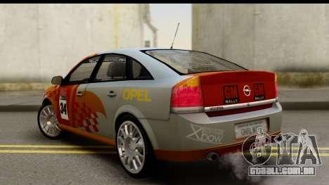 Opel Vectra para GTA San Andreas esquerda vista