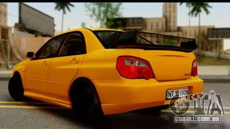 Subaru Impreza WRX STI 2005 Romanian Edition para GTA San Andreas esquerda vista