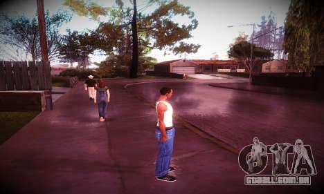 Ebin 7 ENB para GTA San Andreas por diante tela