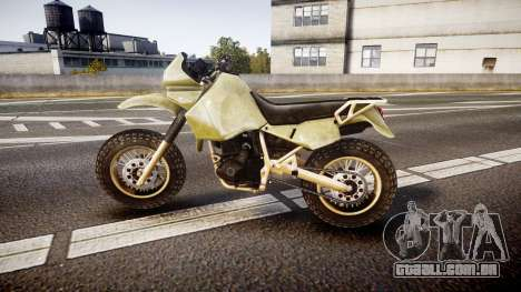 Dirt Bike para GTA 4 esquerda vista