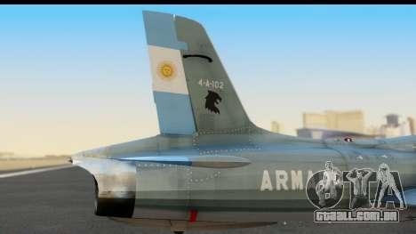 Aermacchi MB-326 ARM para GTA San Andreas vista direita
