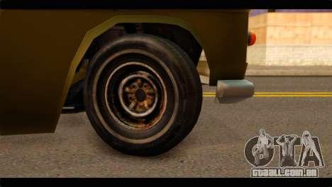 Chevrolet 56 para GTA San Andreas traseira esquerda vista