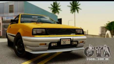 GTA 4 Blista Compact para GTA San Andreas traseira esquerda vista
