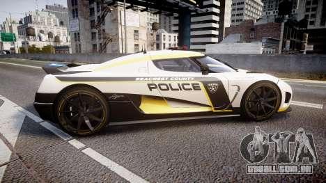 Koenigsegg Agera 2013 Police [EPM] v1.1 PJ1 para GTA 4 esquerda vista