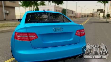 Audi RS6 Vossen para GTA San Andreas vista direita