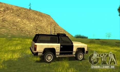Beta Police Ranger para GTA San Andreas vista interior