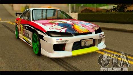 Nissan Silvia S15 Drift Hirasawa Yui Itasha para GTA San Andreas