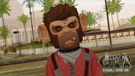 Monkey from GTA 5 v3 para GTA San Andreas terceira tela
